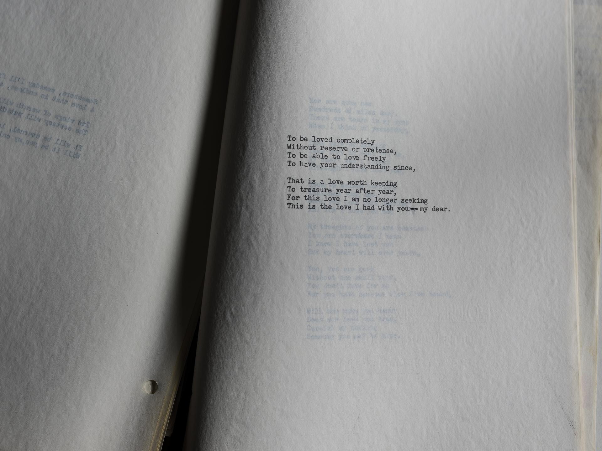 A Widow's Poem (2016) by NORM DIAMOND