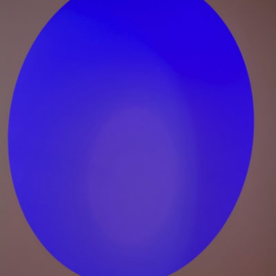 Untitled (Blue Oval) by Peter Elliott